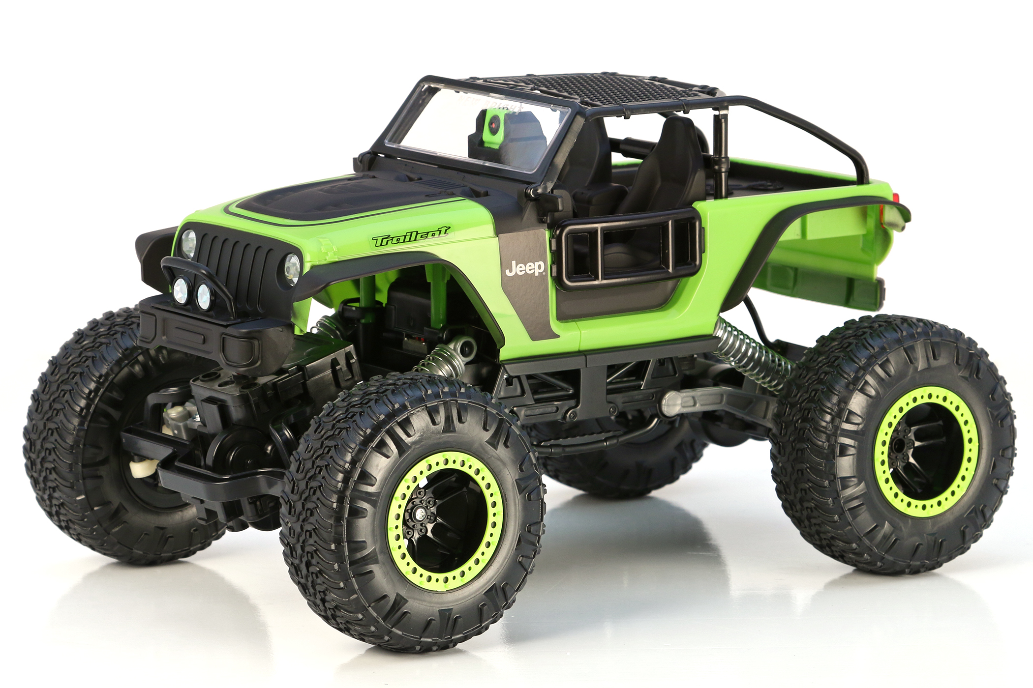 r/c dashcam jeep� trailcat - green   new bright industrial co