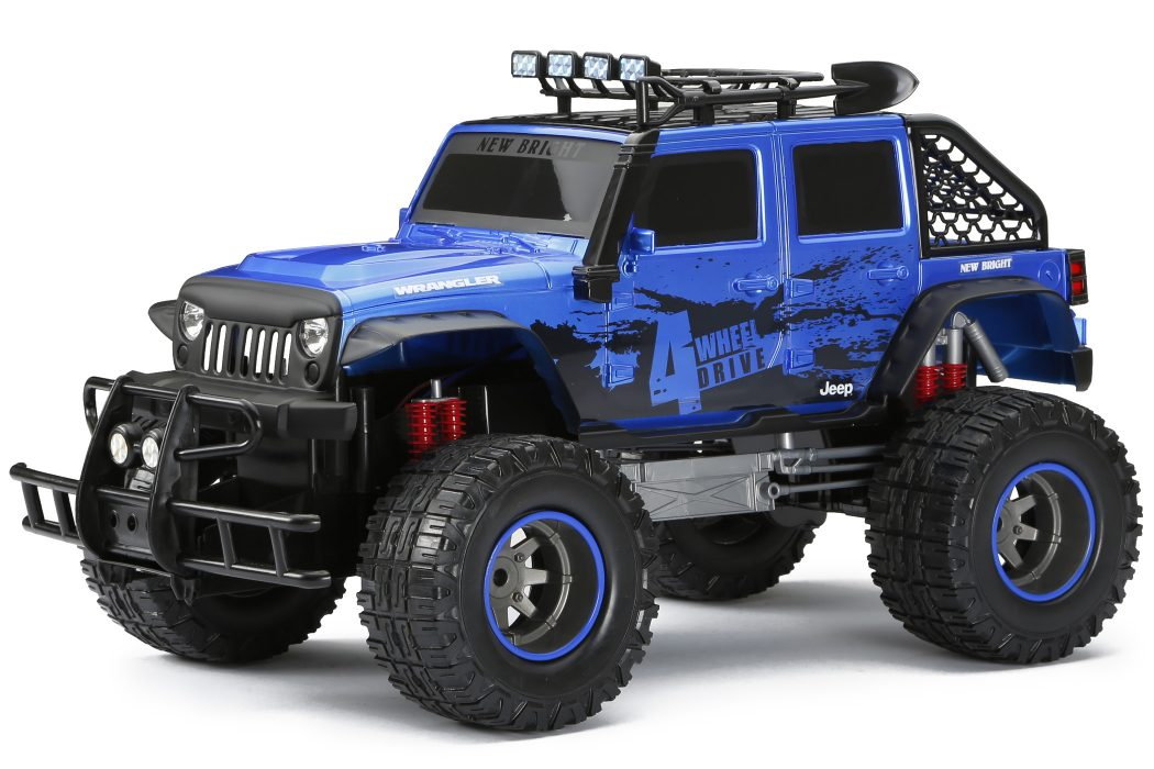 R C 4x4 Jeep Wrangler Blue New Bright Industrial Co