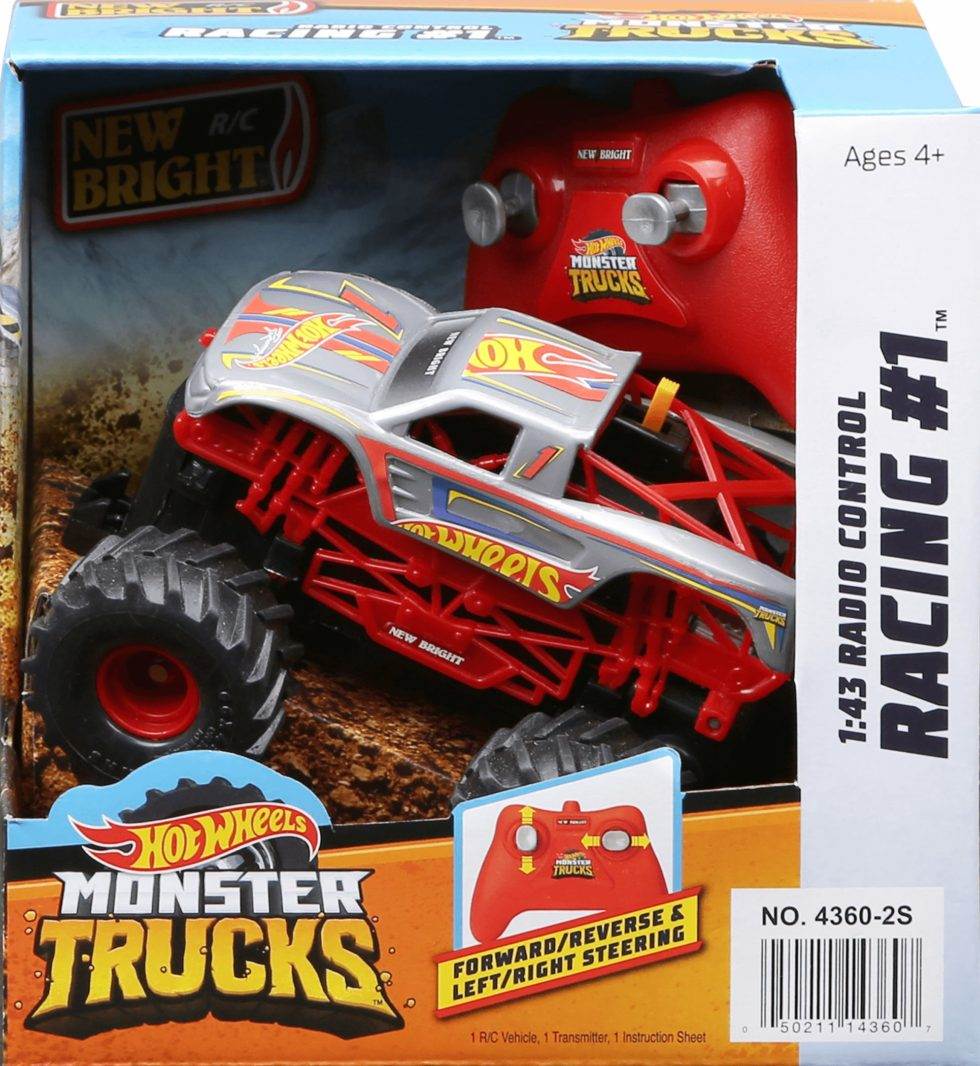 R C Monster Truck Hot Wheels Racing 1 Silver New Bright Industrial Co