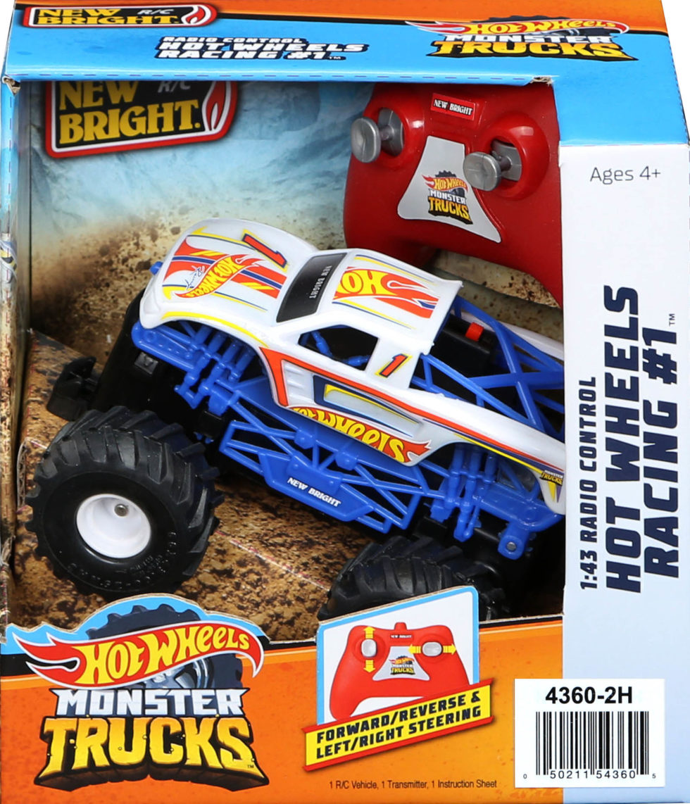 R C Monster Truck Hot Wheels Racing 1 White New Bright Industrial Co