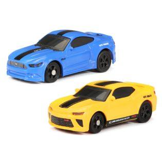 1:64 Helmet Racers 2 Pack Mustang GT and Camaro